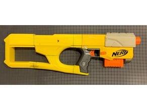 Nerf recon cs-6/Retaliator customized thumbhole stock