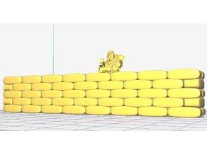Warhammer 40K Sand Bag Wall 5.2m x 1.1m 1:55