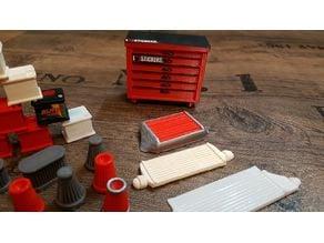 1zu10 RC Car Batterie Dose Diorama Zubehör Scale Werkstatt