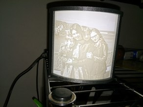 Lithophane Box Frame Curved - 20mm switch hole and DC socket - Litophane - Litofania
