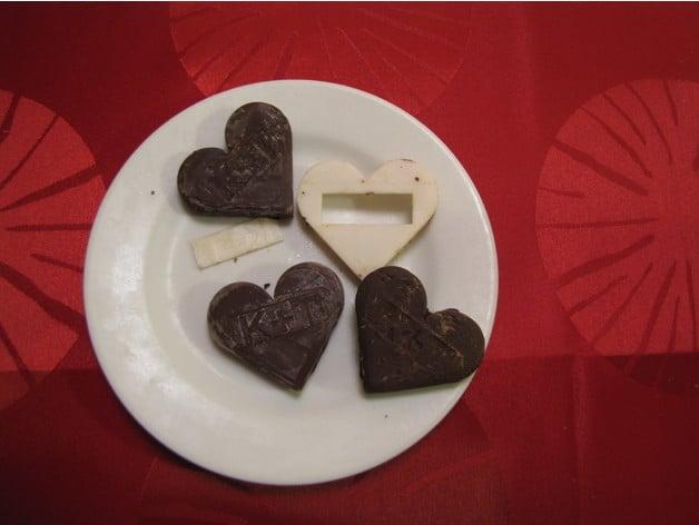 Valentine S Day Chocolate Mold Customizable By Zsellera Thingiverse