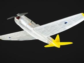 3d printed RC P47 Thunderbolt, motor conversion kit