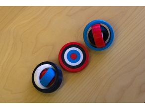 Multi-Color Rotating Rings Toy