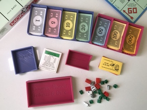 Monopoly money tray and pieces holder