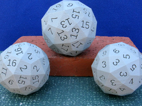 Dodecahedral, Icosihedral Dice
