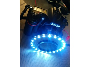 LED Photography Ring Light - Uses Nikon Lens Hood Mount