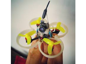 T4bee 16x16mm FC size smallest possible frames for 0703, 0705 and 0806 motors and various prop sizes with simple cam holder or cam pod