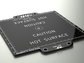 Mini Fabrikator Aluminium heatbed