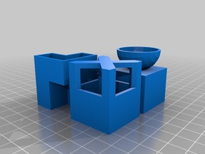 Micro Planter Chess Set (split)