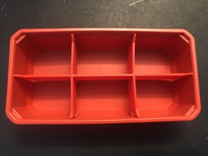 Packout Slim Rectangle 6 bin divider insert