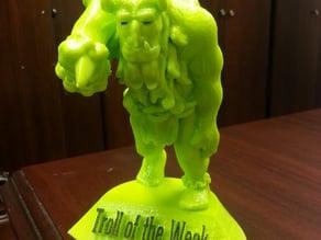 Troll of the week trophy