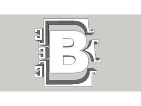 "Concrete mold for letter ""B"""