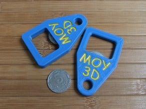Keychain coin bottle opener