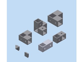 Aluminium profile (square) fasteners