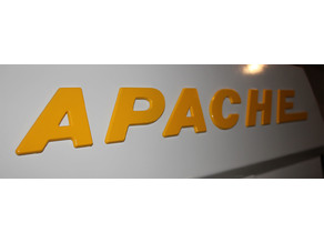 Apache Camper Letter Emblems for Solid State Spare Covers