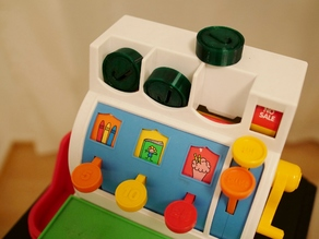 Customizable fisher price cash register coin