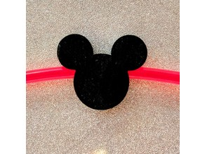 Mickey Mouse charm for glow stick bracelet
