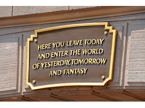 Disneyland Resort Anaheim Entrance Plaque