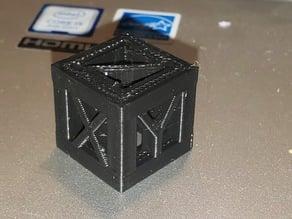 20mm framed calibration cube