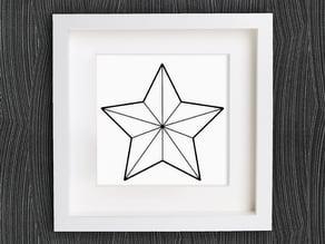 Customizable Origami Christmas Star No. 1