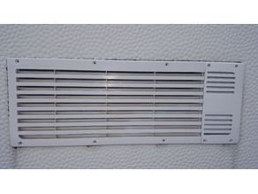 Ventilation grill for exhaust from a caravan fridge