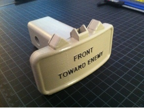 Anti-personnel claymore mine Hitch cover