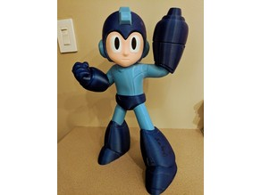 Mega Man! Each Color is a Separate STL!