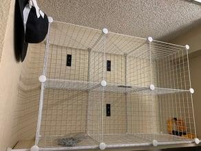 Wire cube wall mount bracket - Whitmor Storage Cubes