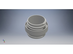 """Dust collection system 2 1/2"""" hose coupler"""