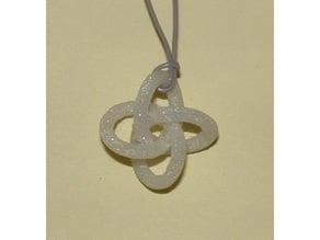 Quatrefoil Knot Pendant