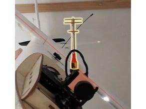 FPV antenna roll stabilizator