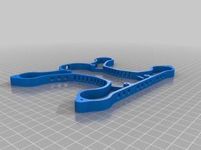 DXF and STL files of the Quadwich180_Spacer_v9 - Quadcopter Sandwich by HicWic