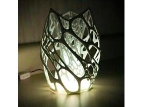 Cellular Lamp w/ Cone Diffuser & LED Compartment