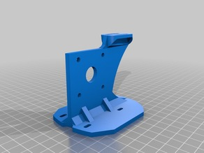Geeetech i3 Pro B extruder support for Titan feeder and V6 hotend with bed auto leveler mount