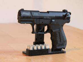 Gun stand for Walther P22 9mm P.A.K. + 10 rounds