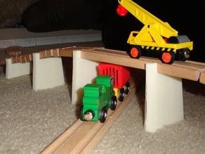 Toy train bridge supports