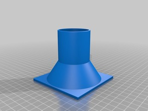 Fan duct adapter 100mm to 45mm