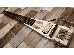 3D travel guitar (Día de muertos)