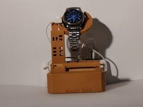Magic Box B - Echo Dot Amplifier/ Smart Watch Holder/ Phone Stand PART A