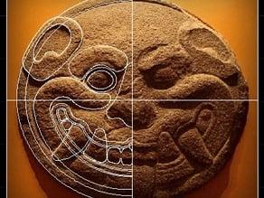 Cara de Jaguar - Jaguar Face - Maya culture - Disco de Jaguar - El Salvador