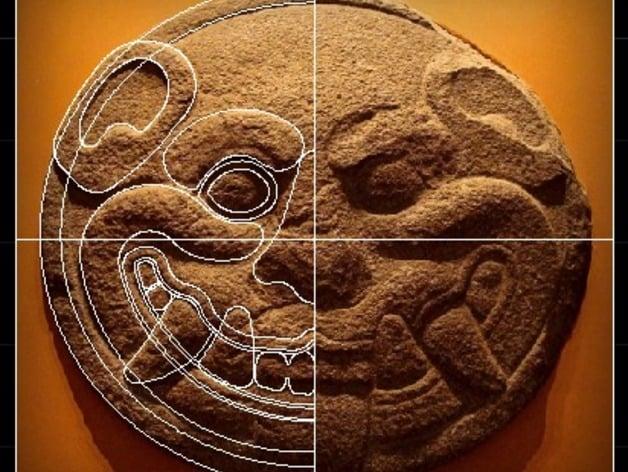 Cara De Jaguar Jaguar Face Maya Culture Disco De