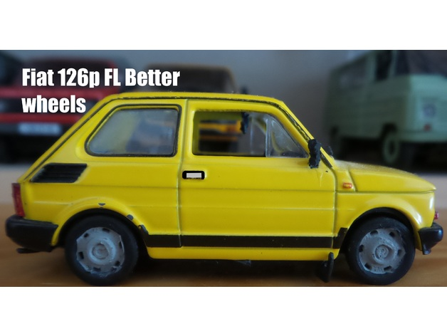 polski fiat 126p fl better wheels 1 43 kap by tan pl thingiverse polski fiat 126p fl better wheels 1 43