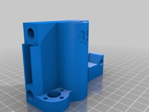 Smooth X-axis Motor mount for Anet A8