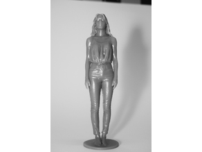 Standing figure of young woman