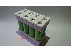 2x4, 2x5, 2x6, 3x3 ICR18650 Battery Holder