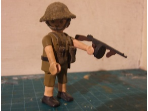 Playmobil Compatible Tommy Gun UK