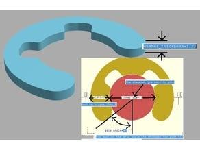 Parametric push fit spacer / washer / circlip