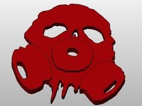 Skull Gas Mask Keychain from Shattered RPG