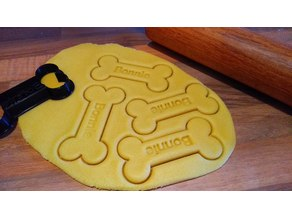 Bone Cookie Cutter with Nametag
