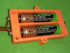 Battery pack for 2xAA batteries